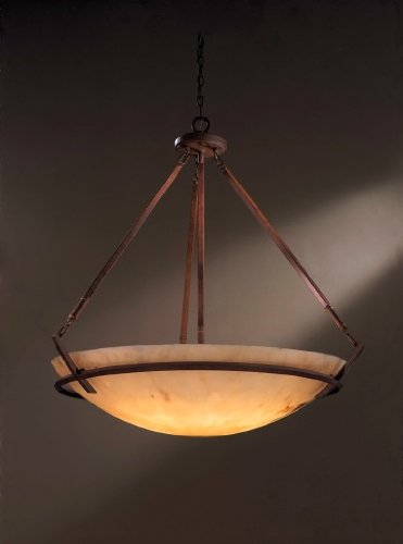 Minka Lavery Pendant Ceiling Lighting 1182-357, Raiden Large Bowl, 3 Light, 300 Watts, Iron