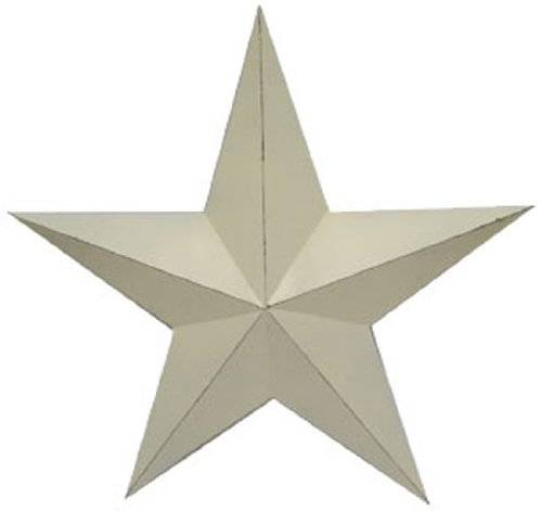 Craft Outlet Antique Star Wall Decor, 11-Inch, Off-White, Set of 2 product image