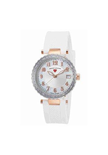 Swiss Legend Women's 16002SM-SR-02-WHT Sea Breeze Analog Display Swiss Quartz White Watch