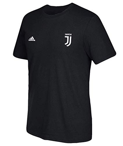 adidas Cristiano Ronaldo Juventus F.C. Men's Black Name and Number T-Shirt Medium