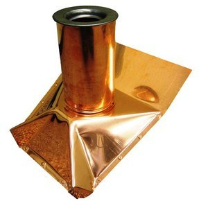 Roof Vent Pipe Boot - Copper - Steep Pitch - 2 Inch (Roof Vent Steep)