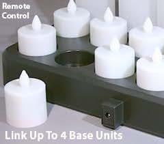 Warm White Remote Control Flameless Timer Tea Light Set 12