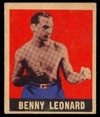 1948 Leaf Regular (Boxing) Card# 3 benny leonard VGX Condition