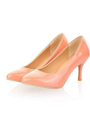 GGX/Damen Schuhe Kunstleder Chunky Heel Heels Heels Office & Karriere/Party & Abend/Kleid/casualblack almond-us8.5 / eu39 / uk6.5 / cn40