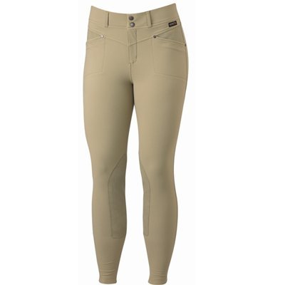Kerrits Cross-Over Breech Kneepatch Tan Size: Small -