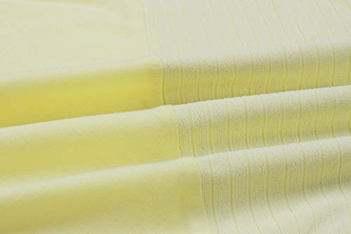 Blouse Pulls Tops Unie Longues T Shirts Jaune et Couleur Jumpers V Casual Printemps Femmes Shirts Col Pullover Fashion Automne Manches Hauts pZqwvHz