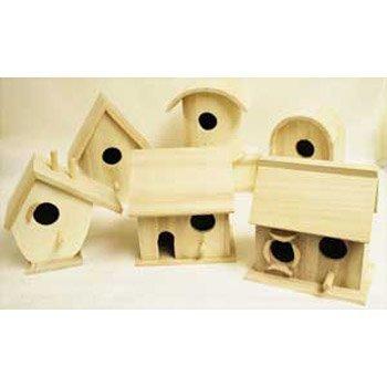 Bulk Buy: Darice DIY Crafts Wood Birdhouse Wren Promo Assortment 5-7 inches each (6-Pack) 9180-09 ()