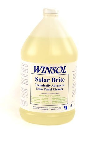 front facing winsol solar brite solar panel cleaning soap