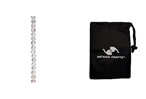 Darice Beads Venezia Crystal Bead Strand 7in. Faceted Round Crystal AB 10mm (6 Pack) 1999 4429 Bundle with 1 Artsiga Crafts Small ()