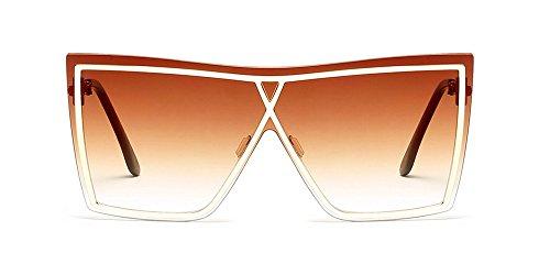UV400 Mujer Hombre Gafas Unisex de sol de ZEVONDA Estilo y para alta 01 Gama EqB6WZf