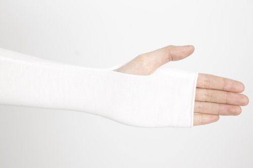 Women Stretchy Long Sleeve Fingerless Gloves, Suitable for Dress Matching, Sun Protection, Halloween, Dressing Party. (White)