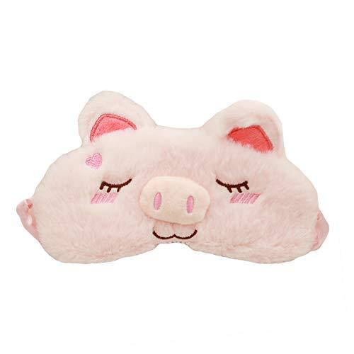 CHUANGLI Cute Piggy Eye Mask Sleep Masks Soft Plush Blindfol