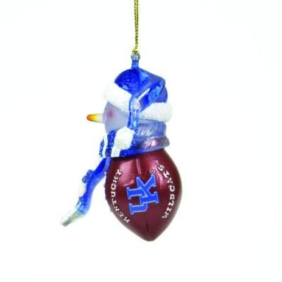 Kentucky Wildcats Striped Acrylic Snowman Ornament(1 Ornament) ()