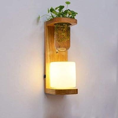 XFZ Planta Lámpara de Pared Dormitorio Lámpara de Noche Plantas de ...