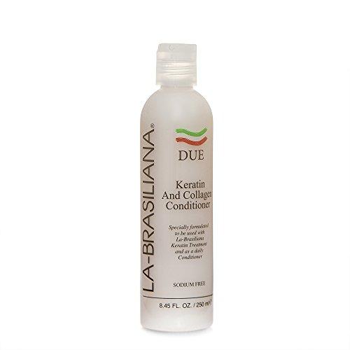 La Brasiliana Due Keratin And Collagen Conditioner  8 45 Fl Oz