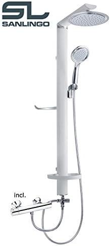 Aluminium Duschpaneel Duschsäule Duschset von Sanlingo