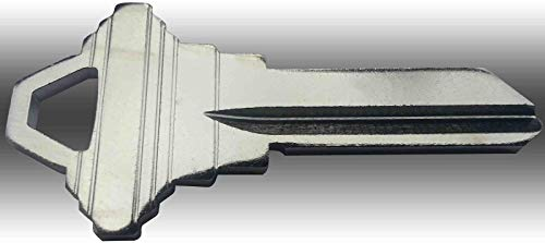 10 Pack Utility of Nickel Plated SC1 Blank Locksmiths Keys #5004-NP