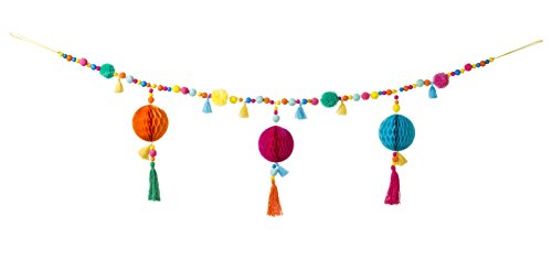 Talking Tables Boho-FAB-POMGARLAND Party Accessory, Multi by Talking Tables