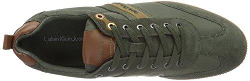 Calvin Klein Utah Piuma Nylon/Suede, Zapatillas para Hombre Various colores (military/whiskey)