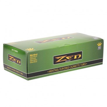 Zen Menthol 100mm Cigarette Tubes (200 Ct/box) 1 Box (Best Menthol Cigarette Tubes)