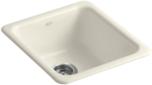 (KOHLER K-6584-47 Iron/Tones Self-Rimming Undercounter Kitchen Sink, Almond )