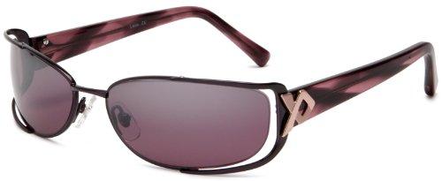 Carmen Marc Valvo Women's Lena Sunglasses,Fig Frame/Purple Lens,One - Carmen Sunglasses