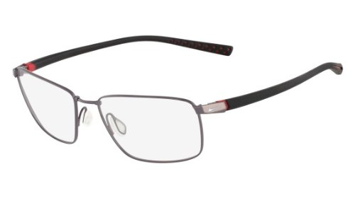 Nike Eyeglasses 4212 048 Gun/Blk Demo 57 17 by NIKE