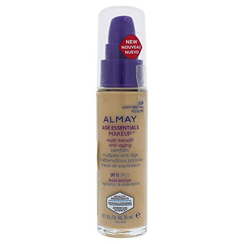 Almay Age Essentials Multi-benefit Anti-aging Makeup - 110 Light Neutral By Almay for Women - 1 Oz Foundation, 1 Oz