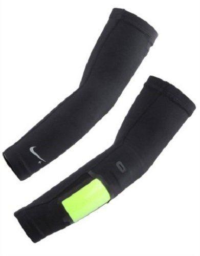 Nike+ Long Running Sleeves (1 Pair, Small/Medium, Black) by Nike