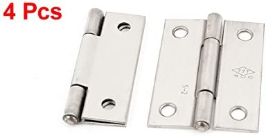 uxcell 2 Inch Square Interior Stainless Steel Cabinet Door Hinge 4Pcs