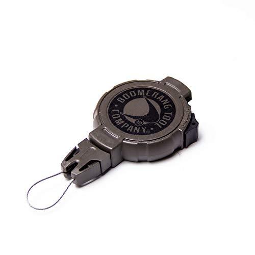 Boomerang Hunting XD Retractable Gear Tether, Belt Clip, 36 Retractable Cord, 14 oz. Retraction, Green Polycarbonate Case, Universal Attachment