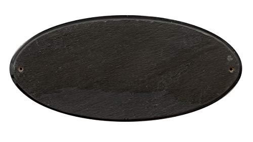 Qualarc, Inc. Solid Granite Address Plaque, Rockport Oval, Slate ()