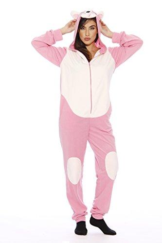 6302-M Just Love Adult Onesie / Pajamas, Medium, Pink Pug New]()