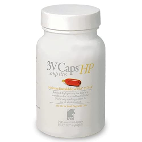 3V Caps HP SNIP TIPS for SMALLER DOGS CATS (60 Caps, 787.5
