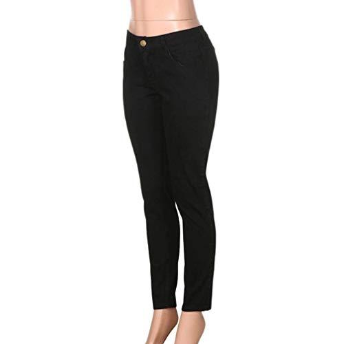 Lunghi Pantaloni Fibbia In Elasticizzati Abbigliamento Jeans Estivi Con Nero Holes Denim Fit Slim All'aperto Da Uomo Skinny I Aderenti Hwrg60Hq