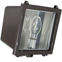 Intermatic FLS100MQL Outdoor Lighting, Metal Halide Small Flood Light 100W w/Quad Tap - Dark Bronze