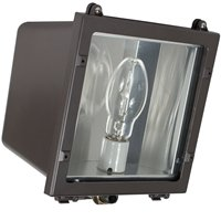 Floodlight 150w Metal Halide Quad - Intermatic FLS150PQL Outdoor Lighting, Metal Halide Small Flood Light 150W w/Pulse Start Quad Tap - Dark Bronze