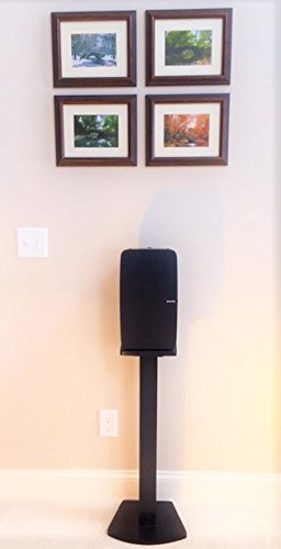 Beautiful Wood Speaker Stand Handcrafted for SONOS Play 5 (2nd Generation) Made in U.S.A. Single Stand. Black.
