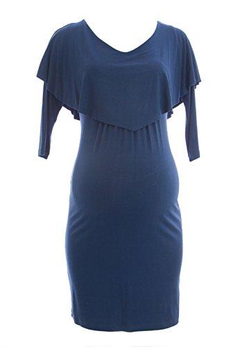 Olian Maternity Women's Nursing Layered Top 3/4 Sleeve Dress X-Small Azure - Olian Maternity 3/4 Sleeve Top