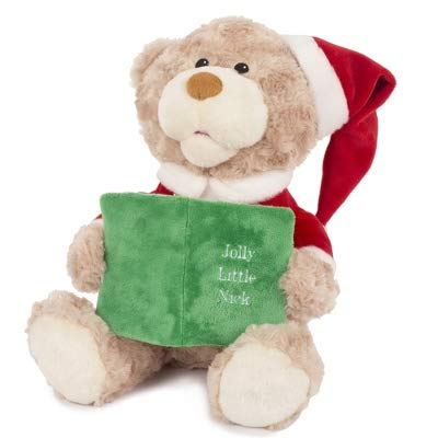 Things Remembered Personalized Story Time Plush Santa Bear with Embroidery - Bear Plush Santa