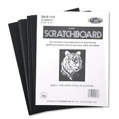 Scratch Art Black Coated Scratchboards 8 1/2 in. x 11 in. pack of 10 10 point by Scratch Art