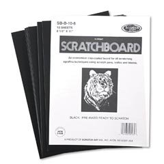 Scratch Art Black Coated Scratchboards 8 1/2 in. x 11 in. pack of 10