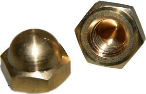 Acorn Hex Cap Nut Solid Brass 10-24 Qty 10 from Lightning Stainless
