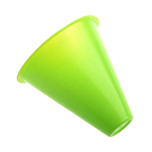 slalom cones - SODIAL(R) 5pcs 3 inches cones for Slalom Skate Roller-Skating - Green (Roller Skating Cone)