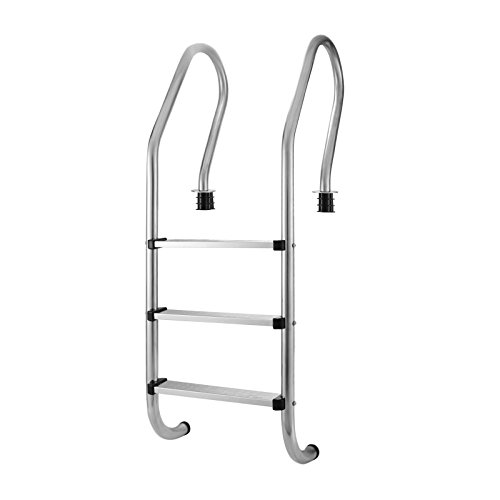 Pool Ladder Treads (OrangeA Pool Ladder 3 Step Stainless Steel In Pool Ladder In Ground Steps For Swimming Pool With High Impact Safety Stainless Steel Tread Silver)