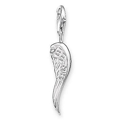 THOMAS SABO Damen-Charm-Anhänger Engel Flügel Charm Club 925 Sterling  Silber weiß 0413