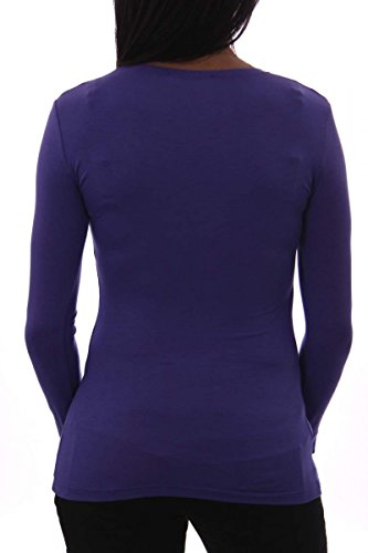 Shield & Couture - Camiseta de manga larga - para mujer morado