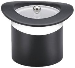 (Kraftware Top Hats Black with White 3-Quart Top Hat Ice Bucket with Band and Lucite Cover by Kraftware)