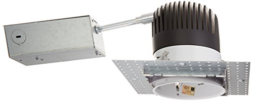 WAC Lighting HR-LED418-RIC-SQW LEDme 4-Inch Recessed Downlight - Remodel Invisible Trim - Ic-Rated Housing - 3000K