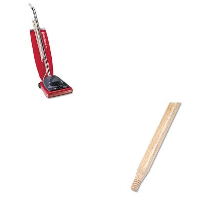 KITBWK137EUKSC684F - Value Kit - Boardwalk Heavy-Duty Threaded End Lacquered Hardwood Broom Handle (BWK137) and Commercial Vacuum Cleaner, 16quot; (EUKSC684F)